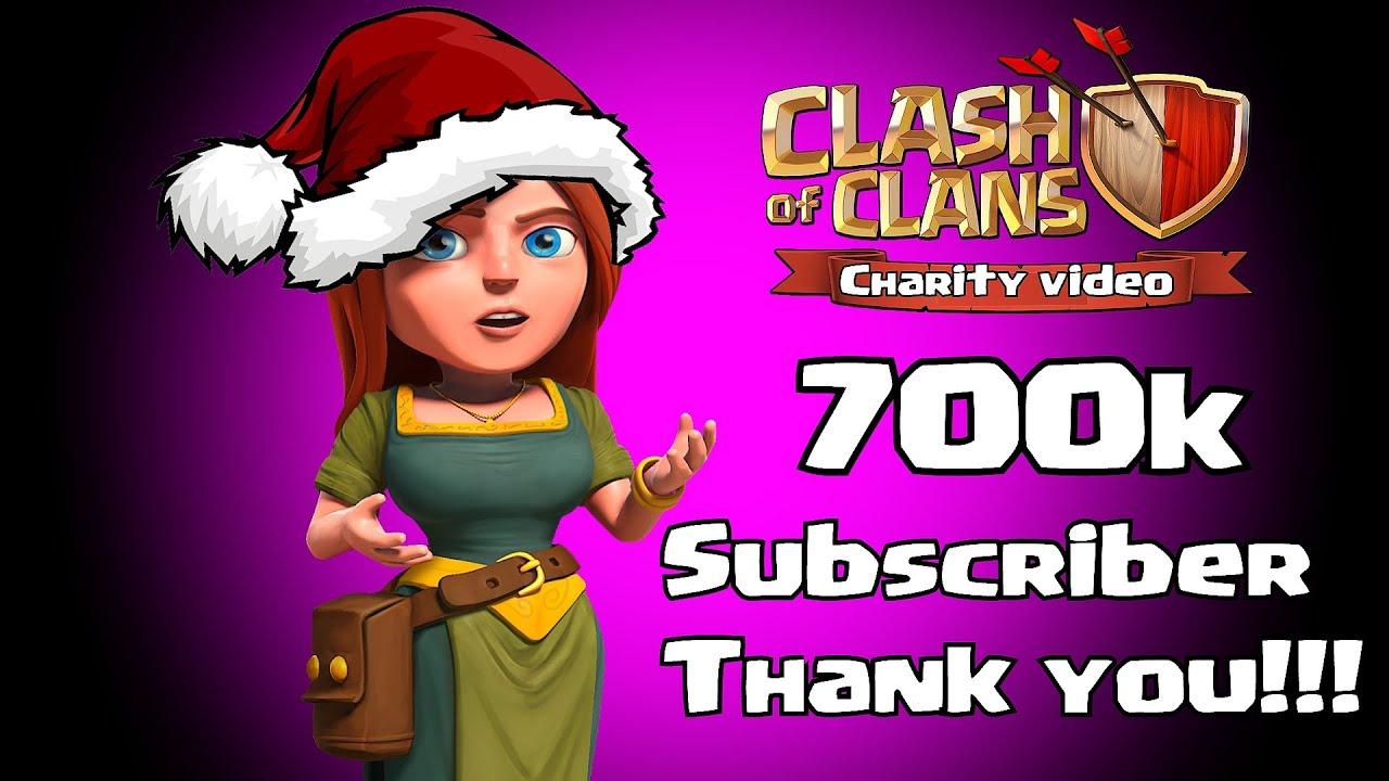 700k subscriber thankyou charity youtube