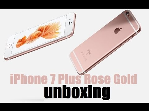 Apple Iphone 7 Plus 32gb Rose Gold Unboxing Youtube
