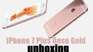 Apple iPhone 7 Plus 32GB Rose Gold Unboxing