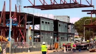 Lchs Pedestrian Bridge Installation