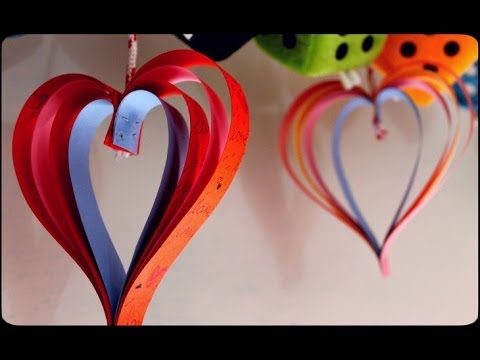valentine paper craft ideas s craft how to make paper hearts 5656