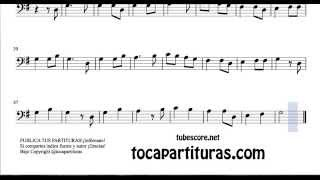 21 de 30 Popurrí Mix Partituras Populares Infantiles de Trombón La Reina Berenguela