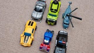 Маленькие трансформеры игрушки собираем машинки из трансформеров. collect cars of Transformers.(Распаковка коробки с трансформерами, собираем машинки. Unpacking boxes with transformers, collect cars. Спасибо, что смотрите..., 2016-01-16T22:50:28.000Z)