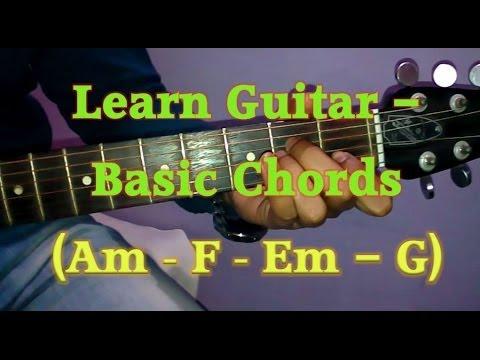 Learn Basic Guitar Chords Beginners Guitar Tutorial A Minor Chord