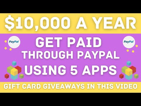 Make $10,000 A YEAR Using 5 Apps - Worldwide PayPal Money!! (Make Money Online)