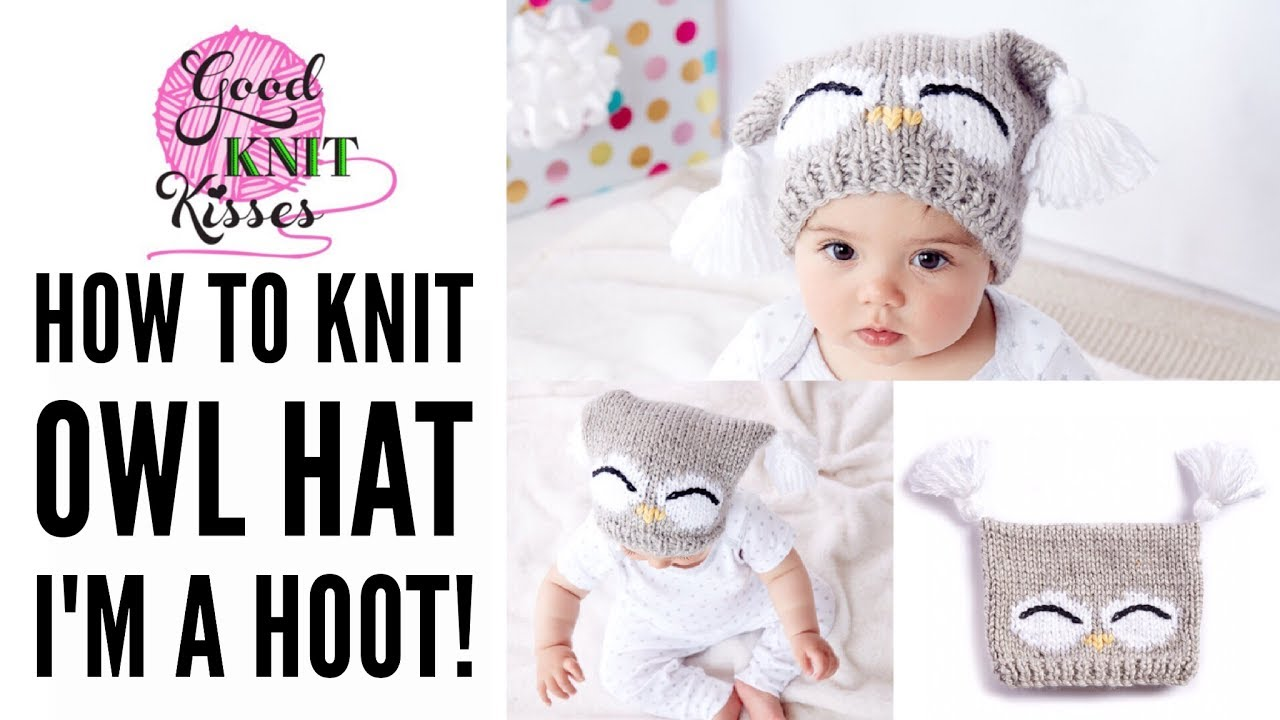 ed42dae0ad4 How to Make a Knit Owl Hat - YouTube