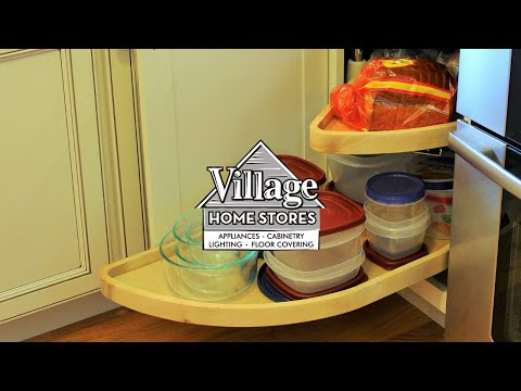 blind corner cabinet with slide out shelf - youtube