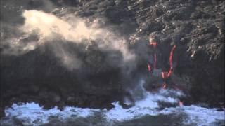 夏威夷火山爆發 岩漿入海景象壯觀