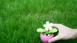 Solar Powered Flip Flap Flower Flowerpot -Sourcingmap.com