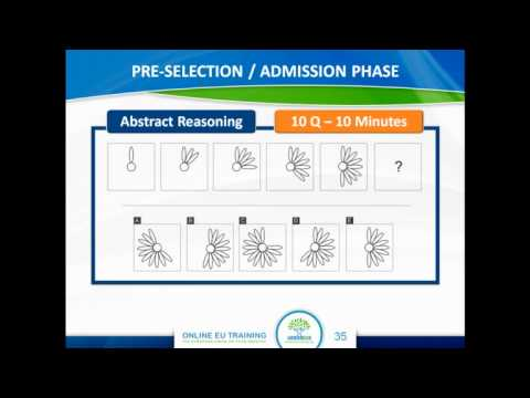 Abstract, Numerical and Verbal Reasoning - EPSO Assistant Exams Info Webcast