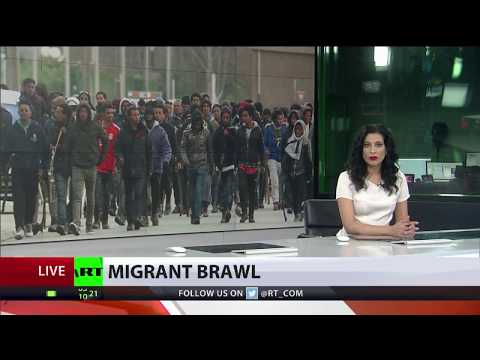 Hundreds of migrants clash as violence breaks out in Calais