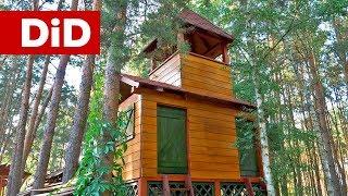 881. Odnowienie elewacji drewnianej domku dla dzieci