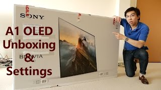 Sony A1/ A1E OLED TV Unboxing + Picture Settings