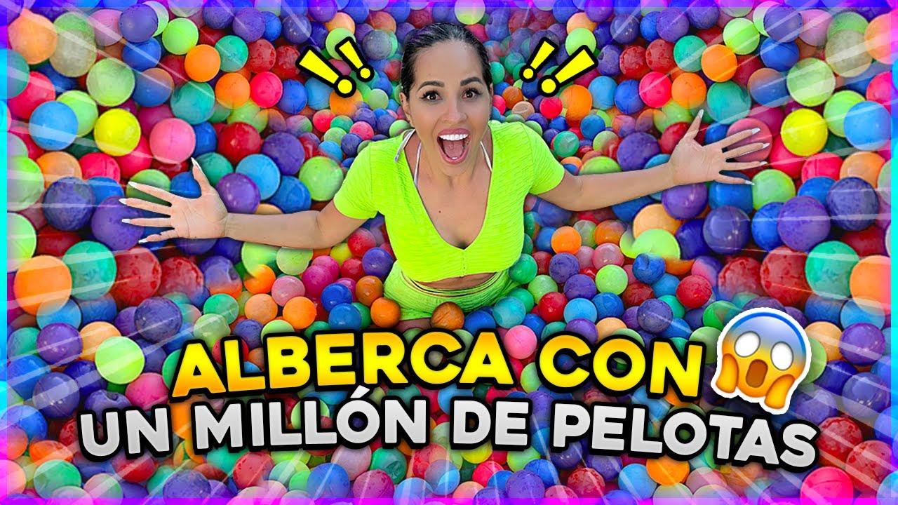 LLENAMOS UNA ALBERCA CON +1,000,000 DE PELOTAS DE COLORES 😱 | Karla Bustillos