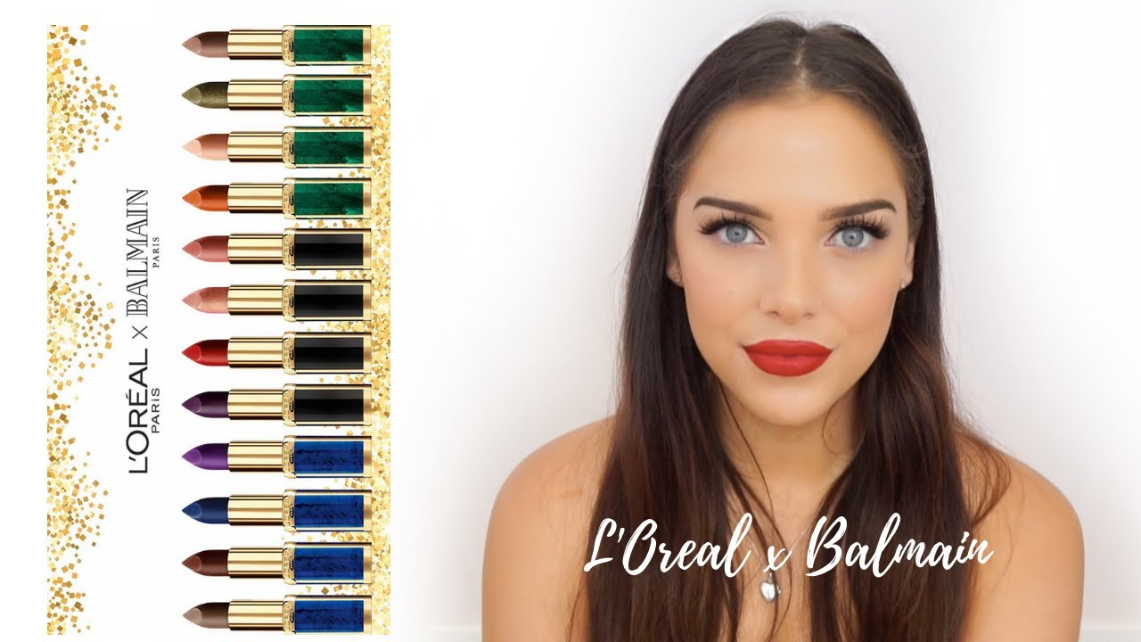 Loreal X Balmain Lip Swatch Review Youtube