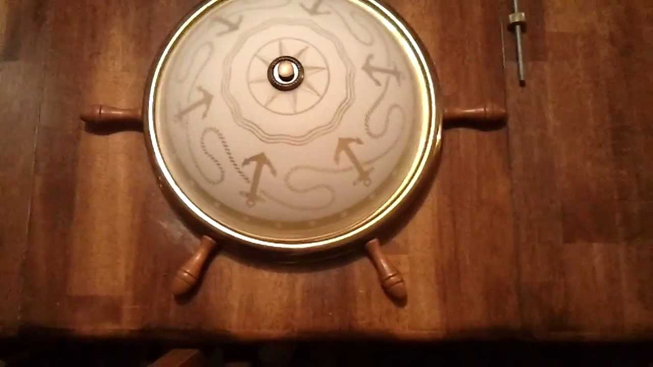 SOLD: 1950\'s Vintage Boat Wheel Ceiling Light Fixture Nautical or ...