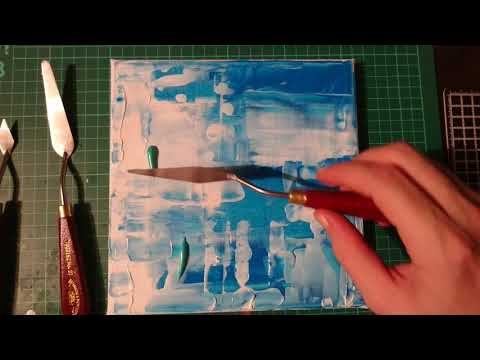 Easy abstract art / simple painting tutorial / relaxing painting / simple acrylic painting technique