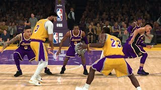 LeBron James and Anthony Davis vs The Rest Of The LA Lakers! | NBA 2K20