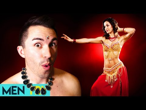 Men Try Belly Dancing For the First Time - How To Belly Dance