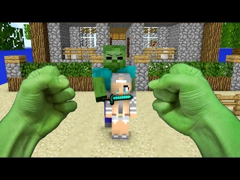 Thumbnail: REALISTIC MINECRAFT ~ STEVE BECOMES HULK