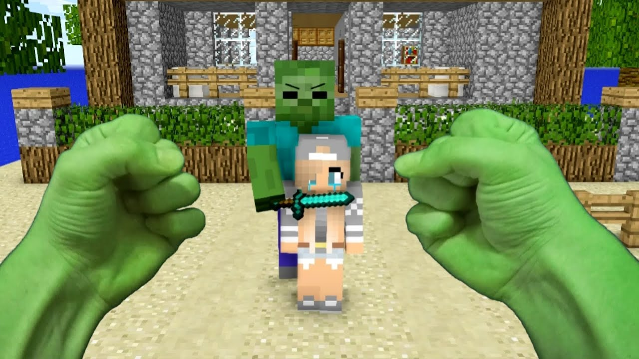 REALISTIC MINECRAFT ~ STEVE BECOMES HULK - YouTube