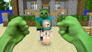 Repeat youtube video REALISTIC MINECRAFT ~ STEVE BECOMES HULK