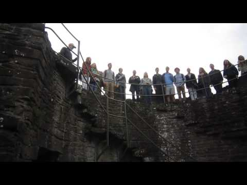 Appleton North High School Choir at townwall Conwy Wales