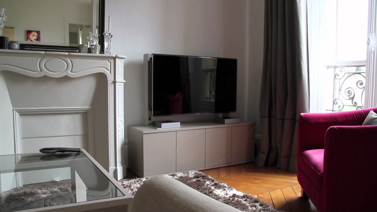 Meuble Tv Escamotable Motorise Maison Design Hosnya Com # Mecanisme Pour Tele Escamotable