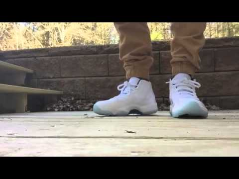 29f19642a205a2 Air Jordan Retro 11 Legend Blue ON FEET FIT - YouTube