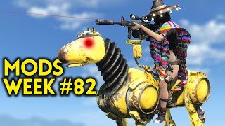 Fallout 4 Top Mods Week #82 - RIDEABLE HORSES, ENCLAVE QUESTS, MORE GORE (PC & XBOX)