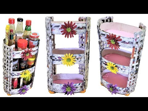 DIY Multipurpose Rack From Waste Material | Space Saving Organizer | Best Out Of  Waste