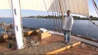 Visite d'une dahabie, bateau felouque de luxe du Nil