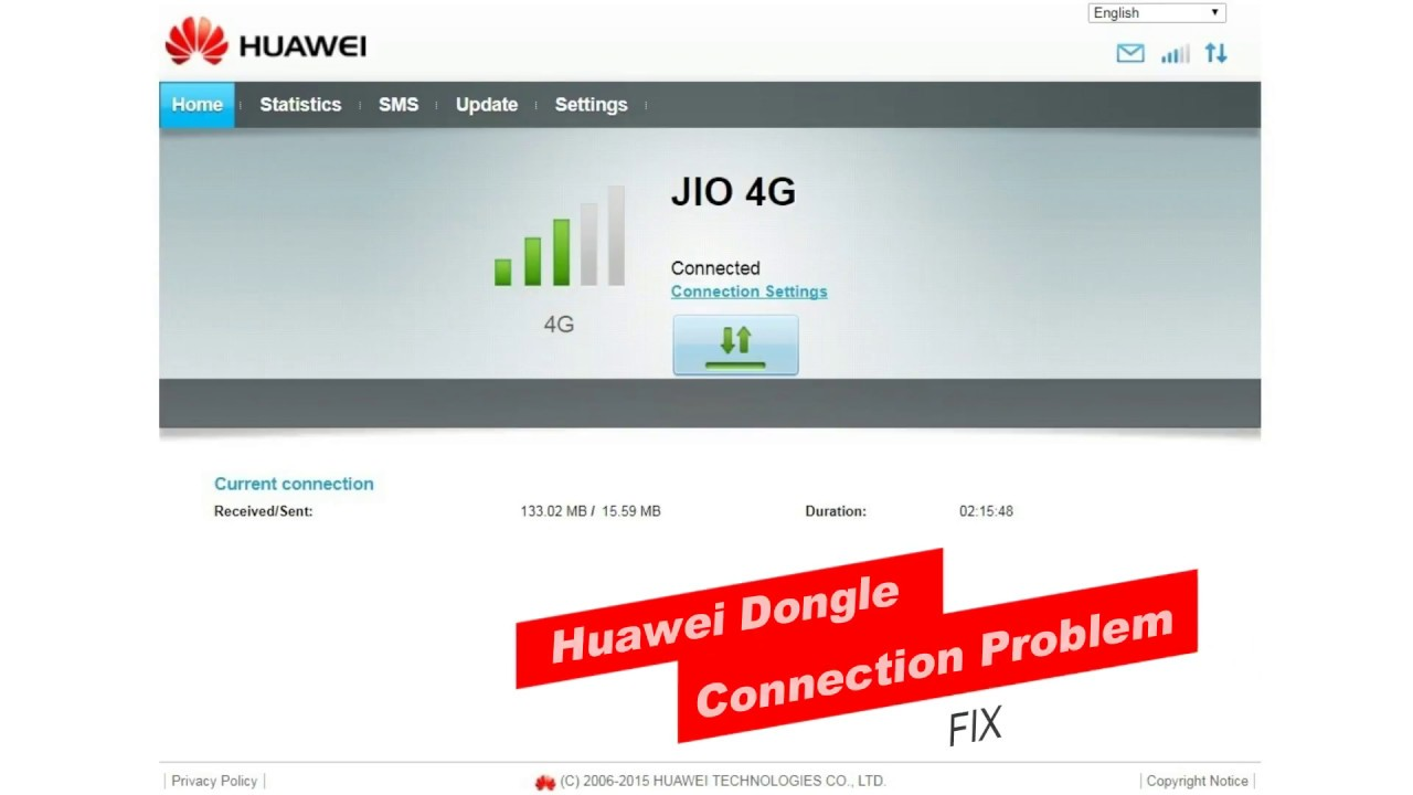 HUAWEI 4G/3G Datacard/Modem Connection Problem Fix