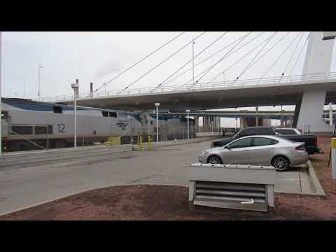 Amtrak Empire Builder 7 arrives at Milwaukee Intermodal Station