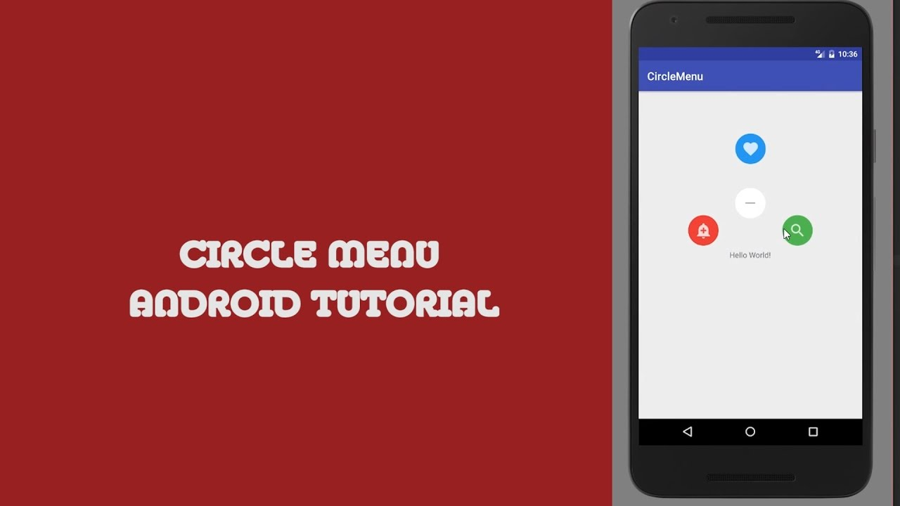 How to Create Circle Menu on Android