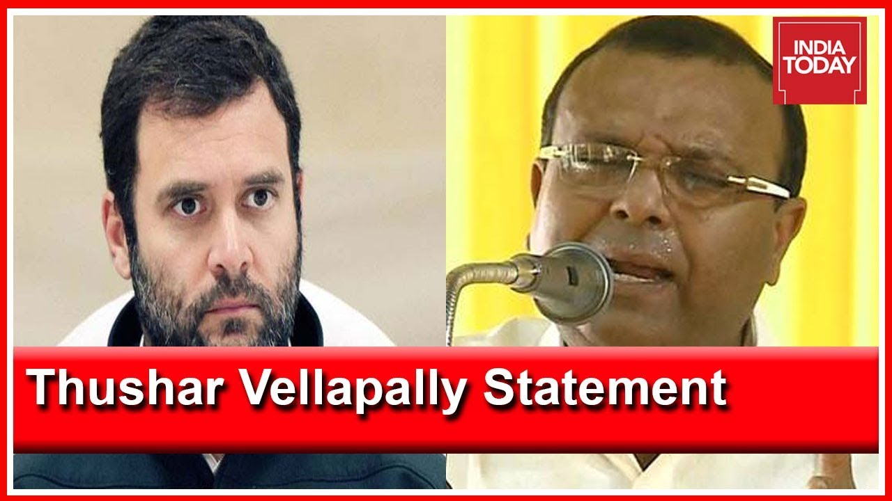 'I Will Finish Him And Send Him Back,' Thushar Vellapally To Contest Against Rahul In Waya