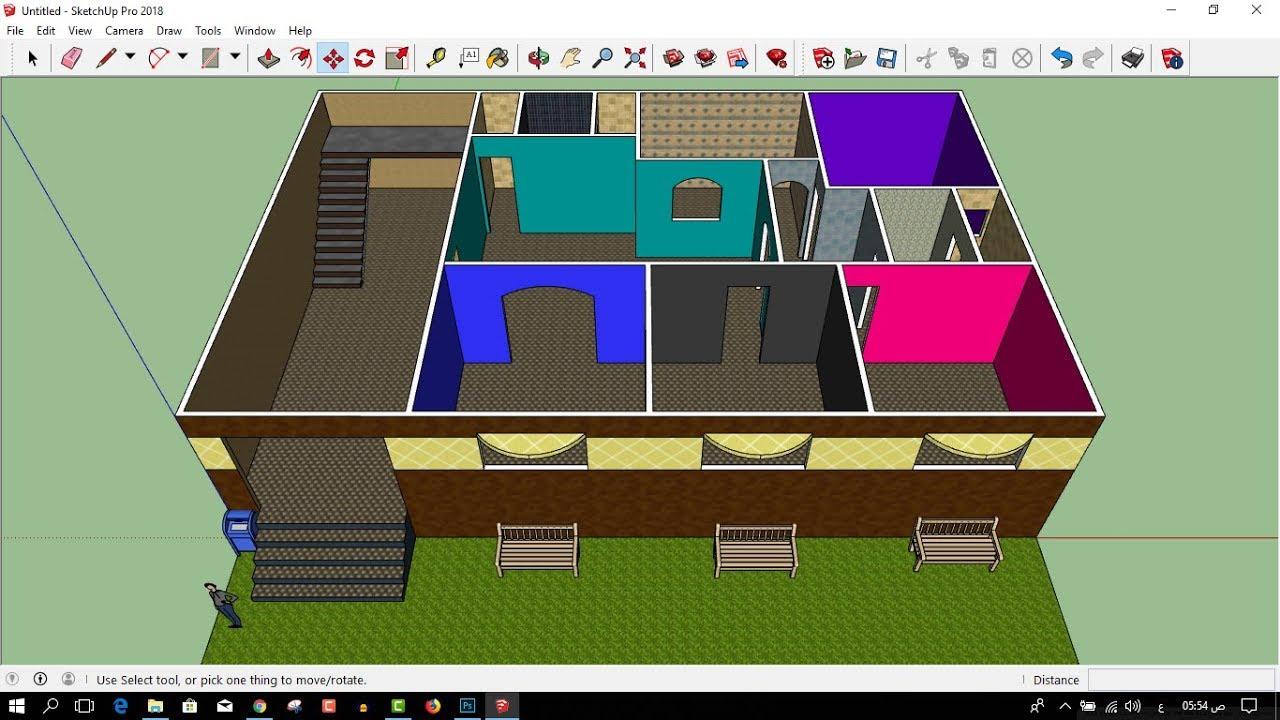 تصميم منزل الدور الارضى 180 متر بشكل عصرى Youtube