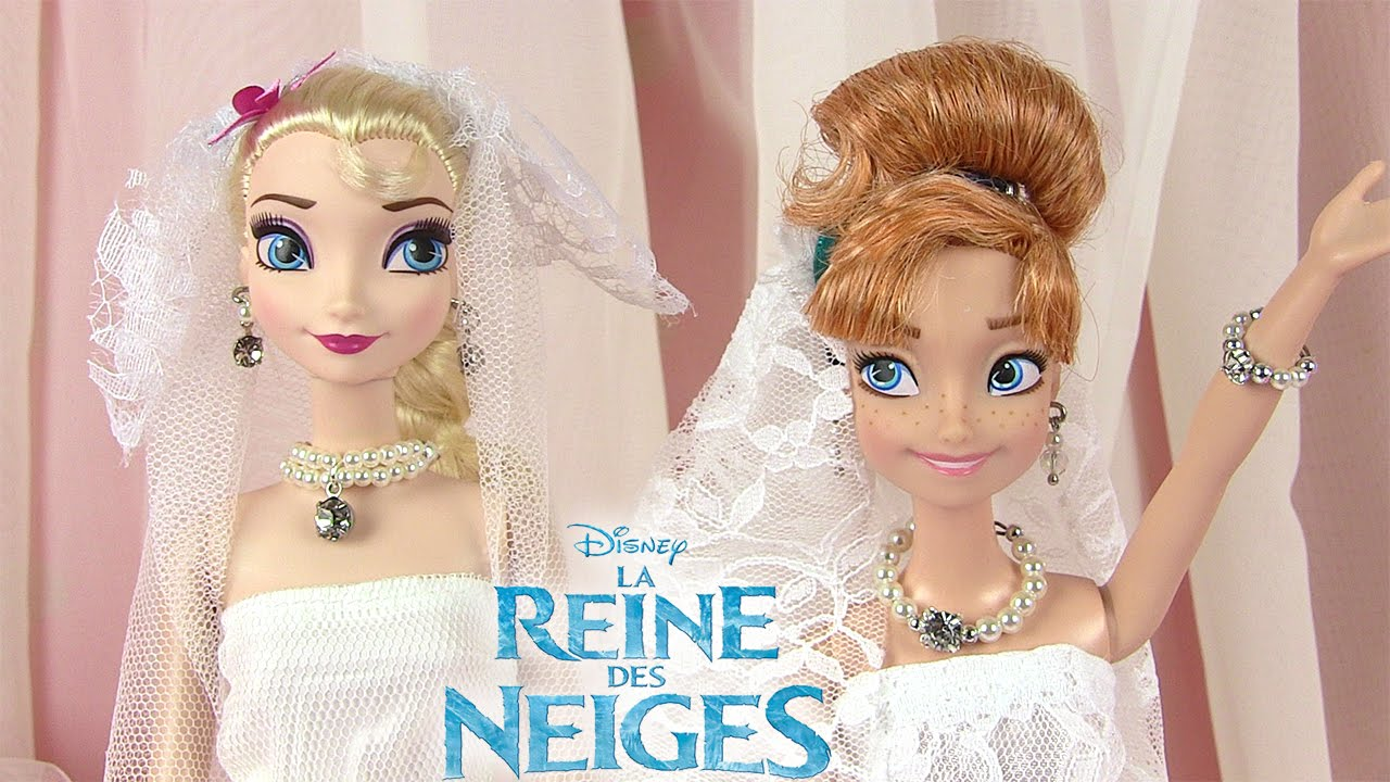 reine des neiges robes de mari e frozen dolls wedding dresses youtube. Black Bedroom Furniture Sets. Home Design Ideas