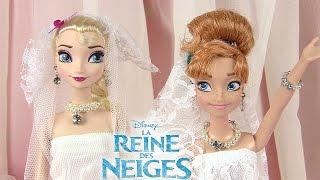 Reine des neiges Robes de mariée Frozen Dolls Wedding Dresses streaming