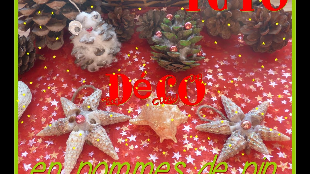 Tuto deco de no l en pommes de pin youtube for Youtube decoration de noel