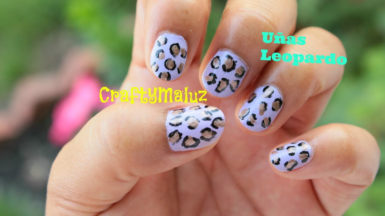 Diy Dise O De U As Leopardo S Per F Ciles Easy Nail Art Designs Leopard Print Youtube
