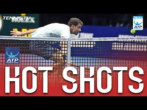 Hot Shot: Dimitrov Shows Sensational Touch At Net Nitto ATP Finals 2017