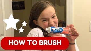 CREST SPARKLE TOOTHPASTE! HOW TO BRUSH YOUR TEETH!