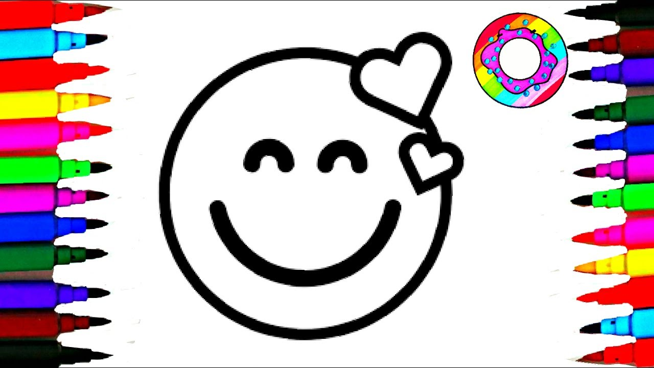 coloring pages emoji l kids drawing emoticons faces happy