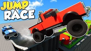 JUMP STUNTS RACE! - Brick Rigs Multiplayer Gameplay - Lego stunts & race challenge