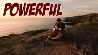 Powerful - Major Lazer Ft. Ellie Goulding & Tarrus Riley - Fingerstyle Guitar (At Widemouth Bay)