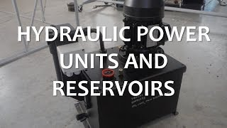 Hydraulic Power Units and Reservoirs (Full Lecture)