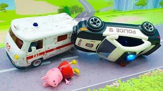 Мультики для детей с игрушками Щенячий патруль Плеймобил. Мультфильмы про игрушечные машинки 2021.