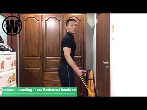 Download LucaSng 11Pcs Resistance Bands Tutorial (Lower angle Workouts)