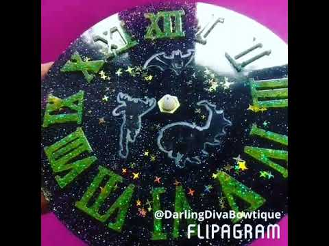 Handmade Resin Batman Clock